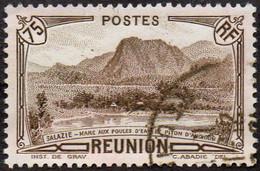Réunion Obl. N° 138 - Vue -> Salazie, Mare Aux Poules D'eau Et Piton D'Auchain Le 75c Sépia - Oblitérés