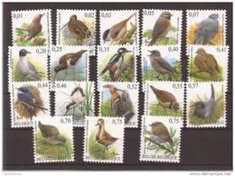 Lot Allemaal Verschillende Buzin Vogels In  EURO Postfris Zonder Scharnier ** - 1985-.. Vogels (Buzin)