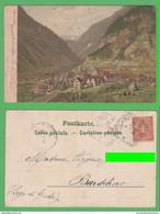 Svizzera Suisse Göschenen Goschenen Bhanhof Ferrovia Treno Canton URI Schweiz - UR Uri