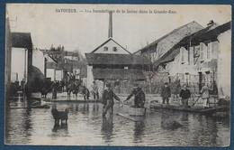 SAVOYEUX - Les Inondations De La Saone Dans La Grande Rue - Other Municipalities