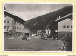 Brennero Brennerpass Dogana Confine Bolzano Zollamt Auto Banca Bar Cpa Anni '50 - Andere Städte