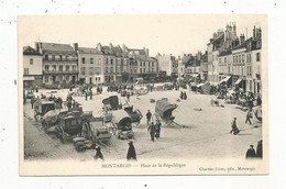 Cp,  Commerce ,marché , 45 ,MONTARGIS , Place De La REPUBLIQUE , Dos Simple , Vierge - Mercati