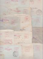 Eesti Pank Tallinn Estonie Estonia Lettre EMA Affranchissement Machine Meter Mail Lot De 12 Enveloppes Banque 1934/1937 - Estonia