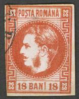 ROMANIA ROUMANIE RUMANIEN 1868 Yt: RO 20, Prince Carol Hohenzollern - Used-hinged - 1858-1880 Moldavië & Prinsdom