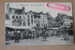 BRUXELLES : Le Marché SAINTE CATHERIEN Un Jour De Marché En  1909 - Brussels (City)