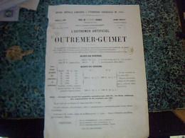 1855 Vieux Papier Tract Publicité Fabrique De Bleu Outremer  Entête Outremer Guimet à Lyon - 1800 – 1899