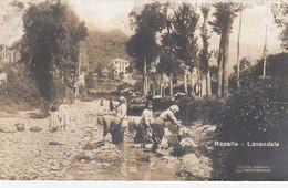 RAPALLO-GENOVA-LAVANDAIE-CARTOLINA  VERA FOTOGRAFIA-VIAGGIATA IL 10-4-1925 - Genova