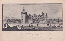 A11847 -CHATEAU DE FLEVILLE, ARCHITECTURE MEDIEVALE, PRES NANCY MEURTHE ET MOSELLE FRANCE POSTCARD - Nancy