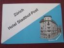 HOTEL PENSION GASTHOF MOTEL STADT ZURICH SWISS SWITZERLAND SCHWEITZ STICKER DECAL LUGGAGE LABEL ETIQUETTE AUFKLEBER - Etiquettes D'hotels
