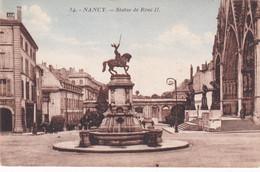 A11854-STATUE DE RENE II, MONUMENT SCULPTURE ARCHITECTURE NANCY MEURTHE ET MOSELLE FRANCE POSTCARD - Nancy