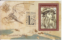 2019 Uruguay Leonardo Da Vinci  Art Painting Science Souvenir Sheet MNH - Uruguay