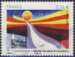 4948 LIBERATION Des CAMPS De CONCENTRATION  OBLITERE ANNEE 2015 - Gebruikt