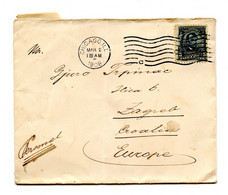 US Letter Cover Posted 1908 Posted Chicago To Zagreb B210725 - Cartas