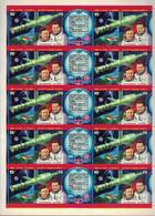 Russia, USSR, 1978, Mi. 4728-29, Sc. 4664a, SG 4770-71, Soyuz&Salyut-6 Space Station, Romanenko, Grechko, MNH - Blocs & Feuillets
