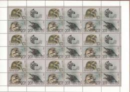 Russia, USSR, 1990, Mi. 6079-81, Y&T 5742-44, Sc. B166-68, SG 6135-37, Birds Of Prey, MNH - Blocs & Feuillets