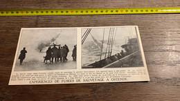 1931 PATI1 Expérience De Fusée De Sauvetage à Ostende Cap Far-ney - Non Classés