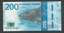 ♛ NORWAY - 200 Kroner 2016 {Norges Bank} UNC P.55 - Norway