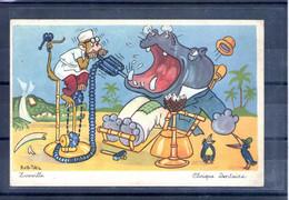 Carte Moderne Illustrée Humoristique. Zooville. Clinique Dentaire - Humor
