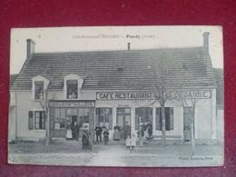 C P A ---36---INDRE----PAUDY-----Café Restaurant (---Chez BENARD ) . - Andere Gemeenten