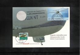 Germany / Deutschland 2008 Zeppelin NT Postcard With A Piece Of Material From Zeppelin Nr.1 D-LZFN Friedrichshafen - Zeppelins