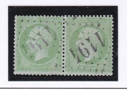 N° 20 Paire T.P. Ob GC 1194 Courtomer ( Dept 59 ) - 1849-1876: Klassieke Periode