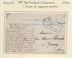 JURA  :  55e Régiment Territorial D'Infanterie  Cies Spéciales  à  DOLE En 1914 - 1. Weltkrieg 1914-1918