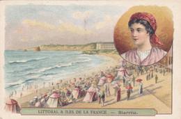 (27)    Chromos (10x7 Cms) Littoral Et Iles De La France - BIARRITZ - Non Classificati