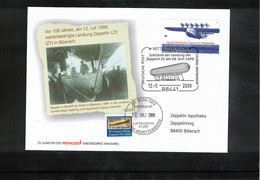 Germany / Deutschland 2009 100th Anniversary Of The Landing Of Zeppelin LZ3 Because Of Bad Weather In Biberach - Zeppelins