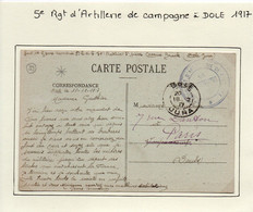 JURA  :  5e Régiment D'Artillerie De Campagne , 70e Batterie à DOLE En 1917 - 1. Weltkrieg 1914-1918