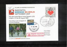 Germany / Deutschland 2009 Zeppelin NT  + Cycling - 100th Anniversary Of The First Visit Of Zeppelin LZ6 In Berlin - Zeppelins