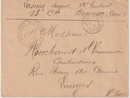 13865  BOUSSAC - CREUSE - RÉGIMENT D'INFANTERIE - 1915 - 1. Weltkrieg 1914-1918