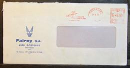 Belgium - Advertising Meter Franking Cover 1975 Gosselies Fairey Aviation Company Wings Plane - 1960-79