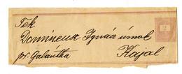 Hungary Postal Stationery Newspaper Wrapper Posted To Kajal B210725 - Ganzsachen