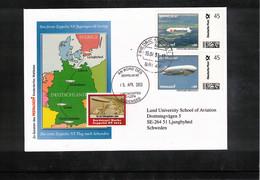 Germany / Deutschland 2010 Zeppelin NT First Zeppelin NT Flight From Friedrichshafen To Sweden - Zeppelins