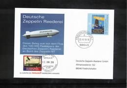 Germany / Deutschland 2010 Zeppelin NT Celebration For The 100000 Passengers On The Board Of Zeppelin NT - Zeppelins