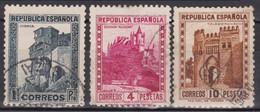 1932 Edifil 673/675 Usados De Lujo - 1931-50 Oblitérés