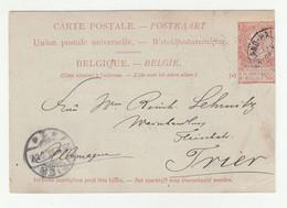 Belgium Pre-printed Postal Stationery Poste 1898 Grand-Halleux Pmk D B210725 - Cartoline [1871-09]