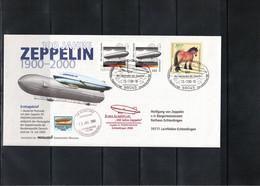 Germany / Deutschland 2000 Zeppelin NT 100th Anniversary Of Zeppelin Flight From Friedrichshafen To Echterdingen - Zeppelins