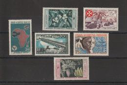 AOF 1956-58 Divers 62-67 6 Val ** MNH - Nuevos