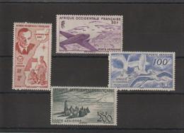 AOF 1947 Vols Sur L'AOF PA 11-14 4 Val ** MNH - Nuevos