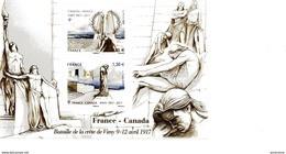 TIMBRES...BLOC    FRANCE  CANADA  BATAILLE DE LA CRETE DE VIMY EN 1917  NEUF - Foglietti Commemorativi