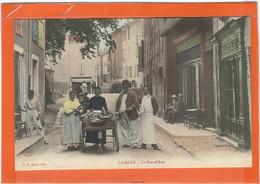 GARD : Lasalle, Une Colporteuse? TOP Carte Animée (Couleur), RARE... - Other Municipalities