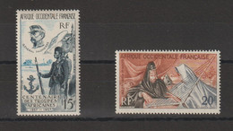 AOF 1957-58 Divers PA 21 Et 28 2 Val ** MNH - Unused Stamps
