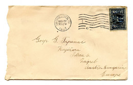 US Letter Cover Posted 1907 San Francisco To Zagreb B210725 - 1901-20