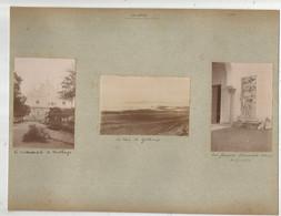 CARTHAGE (TUNISIE) ENSEMBLE DE 3 PHOTOS TIREES D'UN ALBUM 1903 (BAIE CATHEDRALE ET FRESQUE ) - Lieux