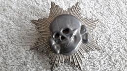 Anstecker Stern Totenkopf Elite Schraubplatte Abzeichen Militär Repro - 1939-45
