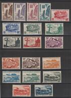 Saint Pierre Et Miquelon 1947 Série Courante 325-343 19 Val ** MNH - Neufs