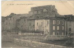 GARD : Alès : Place Et Pont De La Révolution - Alès