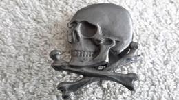 Anstecker Totenkopf Elite Schraubplatte Abzeichen Militär Repro - 1939-45