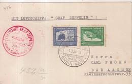"""ALLEMAGNE : PA . ZEPPLIN LZ 130 . """" SUDETENLAND FAHRT """" . 1938 . - Briefe U. Dokumente"""
